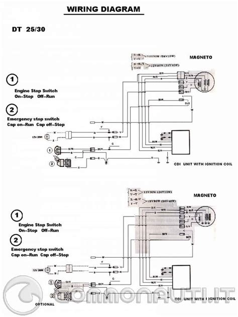 yamaha dt 125 wiring diagram wiring diagram not center