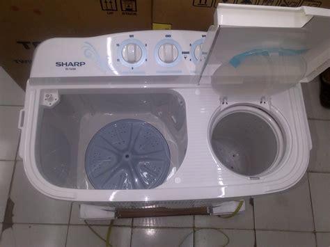 Mesin Cuci Sharp 2 Lubang cara memperbaiki mesin cuci yang bocor tidak mau berputar