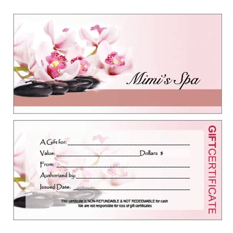 nail salon gift certificate template nail salon gift certificate pictures to pin on