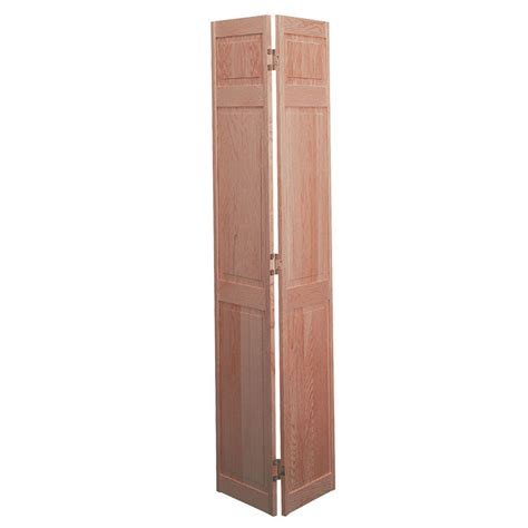 folding doors interior home depot masonite 30 in x 78 in 6 panel solid smooth unfinished pine bi fold door 585247 the