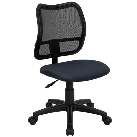 Mid Back Mesh Chair flash mid back mesh task chair with fabric seat by oj