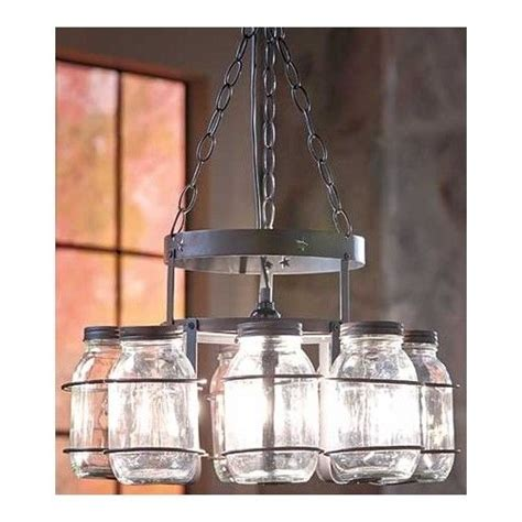 Canning Jar Light Fixtures Jar Chandelier Farmhouse Glass Canning Jars Light Rustic Fixture Ebay