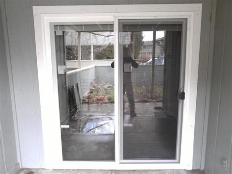 Trim Around Sliding Glass Door Sliding Patio Door And Exterior Trim Installation Yelp