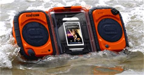 ecoxgear rugged and waterproof stereo boombox ecoxgear rugged and waterproof stereo boombox gdi aq2si60 home audio theater