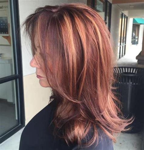 cortes de pelo mujer de  anos  pelo largo capas rojo