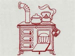 Kitchen Embroidery Designs Free Machine Embroidery Designs Vintage Kitchen 1 Set
