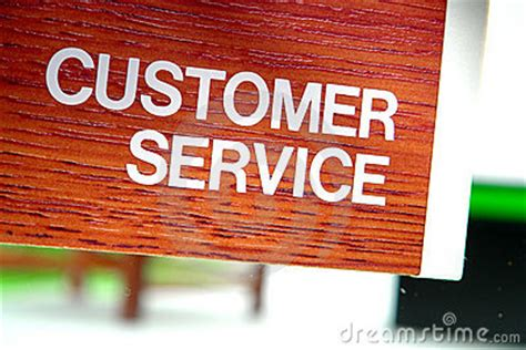 customer service department sign stock  image