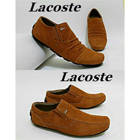 Sepatu Lacoste Slop Suede jual sepatu slop casual pria suede lacoste kerja lapangan