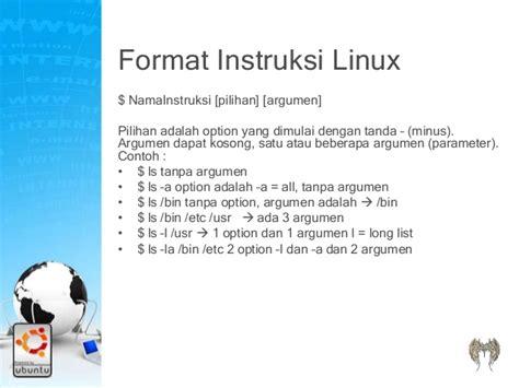 format instruksi adalah manajemen file