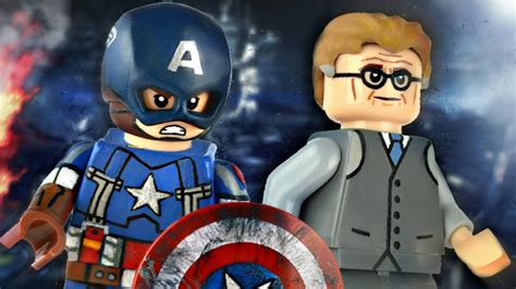 Lego Kw Captain America Civil War Costume Minifigure lego marvel captain america golden age showcase