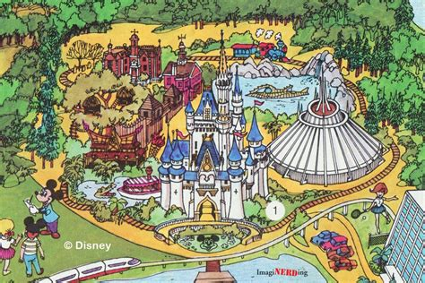 magic kingdom maps galore imaginerding