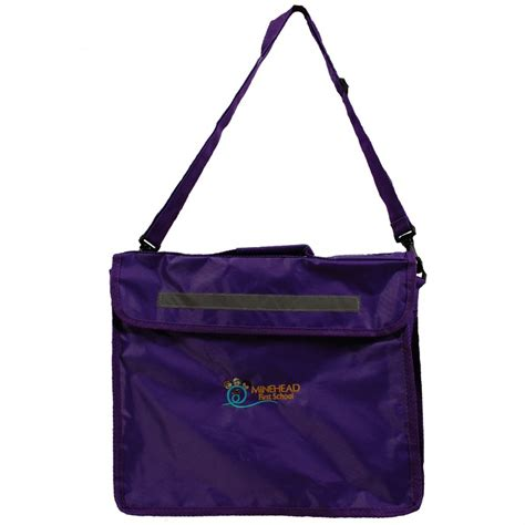 Book Bags by Innovation Minehead School Book Bag Purple