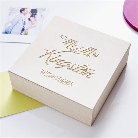 Wedding Keepsake Box by Personalised Wedding Keepsake Box By