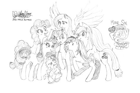 my little pony mane six coloring pages mlp mane 6 pages coloring pages