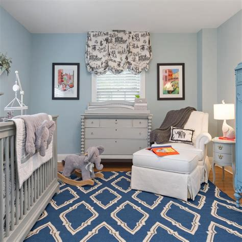 light blue boys light blue walls are a touch to this baby boy s