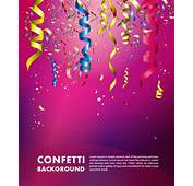 Colorful Confetti Vector Background For Birthday
