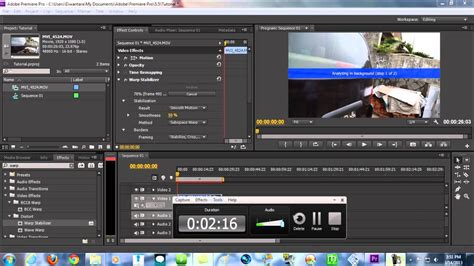 adobe premiere cs6 warp stabilizer premiere pro tutorials glidecam effect without using