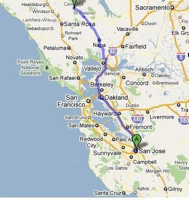 map san francisco to napa valley atlas napa valley san francisco map