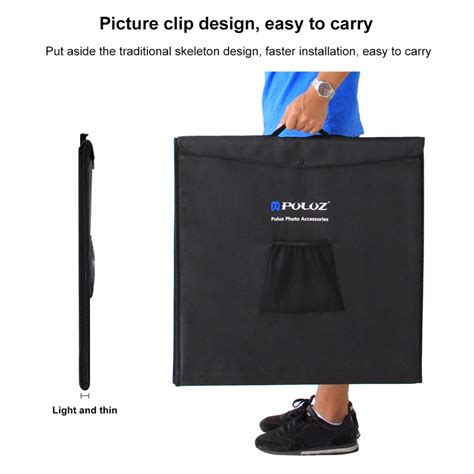 Murah Portable Photo Studio Mini 4 Backdrop Size 50 Cm puluz photo studio mini portable dengan led dan 3pcs