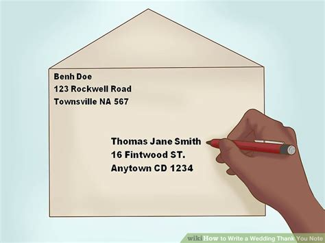 Thank You Card Envelope Template And Mailing by How To Write A Wedding Thank You Note 15 Steps With