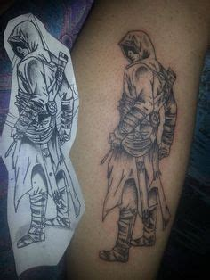 assassin girl tattoo a fist holding the lightning bolt symbolizes the ability