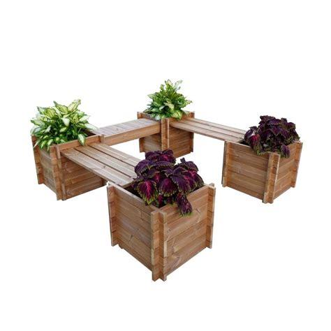home depot wooden planters thermod garden court 76 in x 20 in wood planter th court the home depot