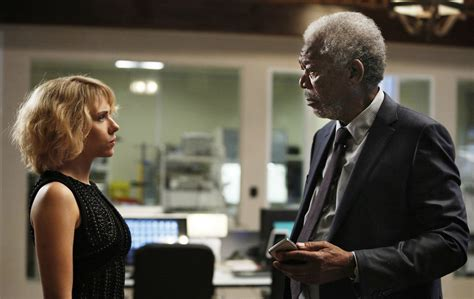 film lucy morgan freeman movie review lucy 2014 mild spoilers killing time