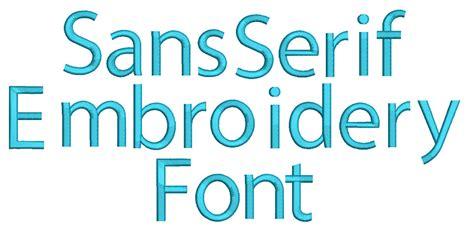 design font serif sans serif embroidery font