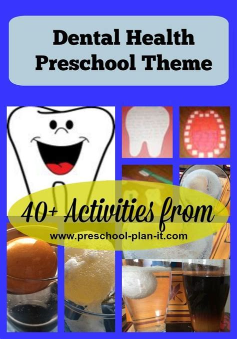 theme education time free dental health preschool theme over 40 activities for