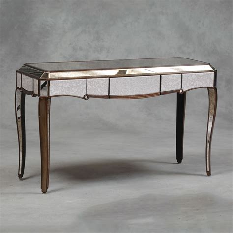 Venetian Mirrored Console Table Venetian Antique Mirrored Gold Edged Console Table