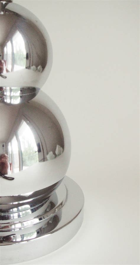 stacked spheres table l canadian 60 s chrome two graduated and stacked spheres