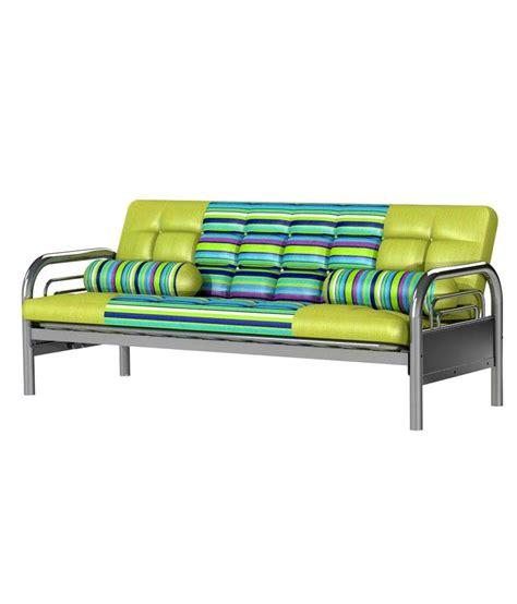 sofa cum bed metal furniturekraft deluxe full metal sofa cum bed buy