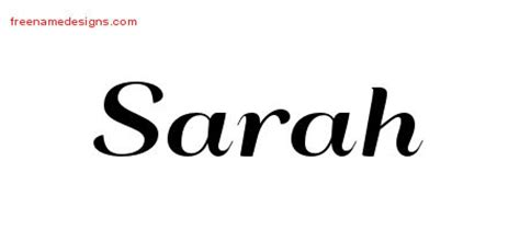 sarah archives free name designs