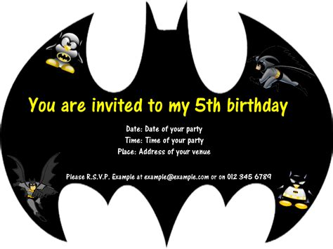 free batman template birthday card 7 best images of batman invitations free printables free
