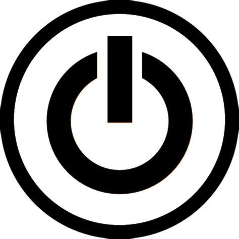 picture of a power button mono power button clip at clker vector clip
