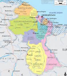 large detailed political and administrative map of guyana