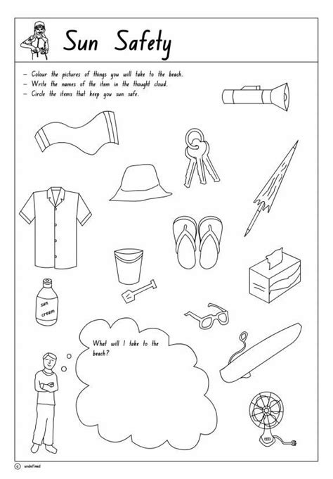 coloring pages sun safety sun safety printable 1 click to download teacher