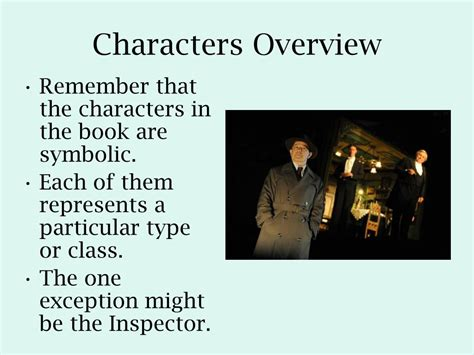 themes in an inspector calls powerpoint ppt character and theme in an inspector calls powerpoint