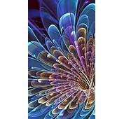 Fantasy Color Abstract Flower Feathers Android Wallpaper