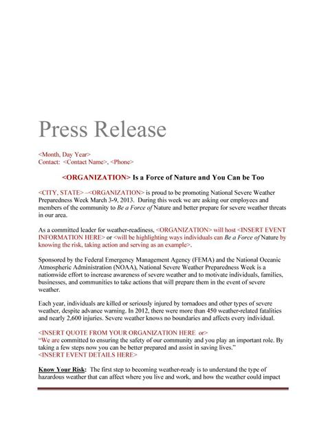 Press Release Template For Event – Press Release Template   Free Word & PDF Downloads