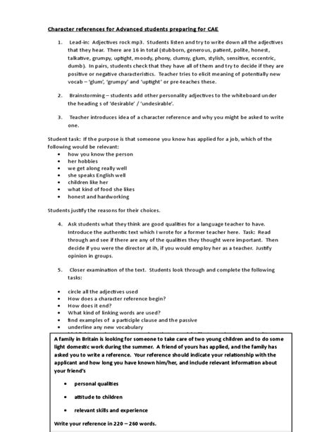Character Reference Letter Sle For Teachers sle resume character reference 28 images exles of