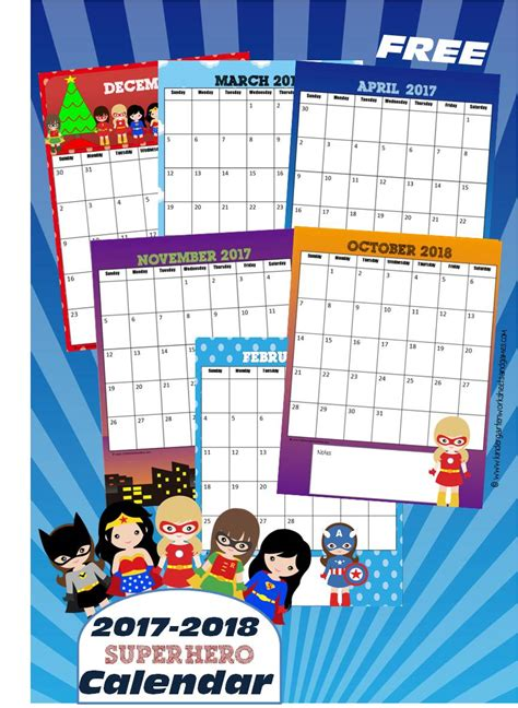 Free Preschool Calendar Printables 2017 kindergarten worksheets and 2017 2018