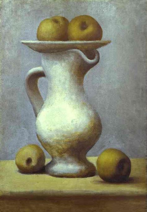 picasso paintings fruit pablo picasso still with a pitcher and apples 1919
