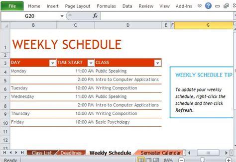 weekly schedule template 19 free word excel pdf download