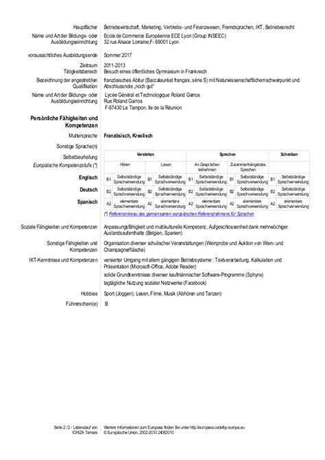 Lebenslauf Qualifikationen Liste Seite 1 2 Lebenslauf Ichiza Tamara Weitere Informationen Zum Europass Finden Sie Unter