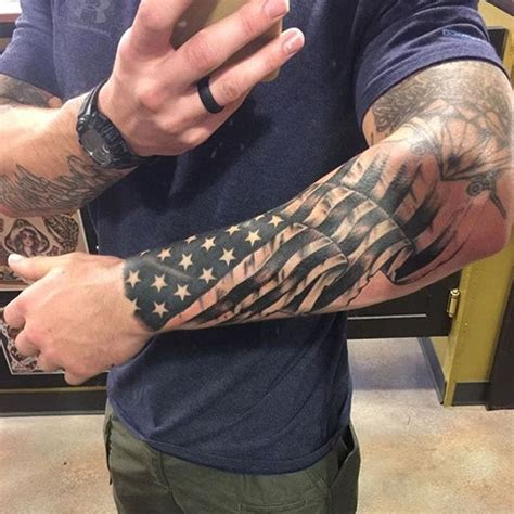 black and gray american flag tattoo black and grey american flag tattoos www pixshark