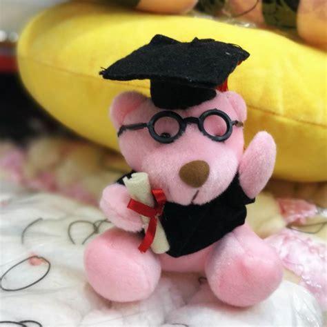 Boneka Beruang Topi 10 cm wisuda boneka beruang dengan topi gaun kaca mewah