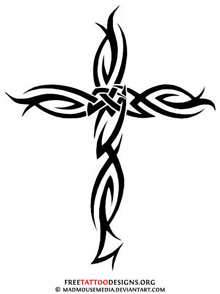 tribal cross tattoos on back 50 cross tattoos designs of holy christian