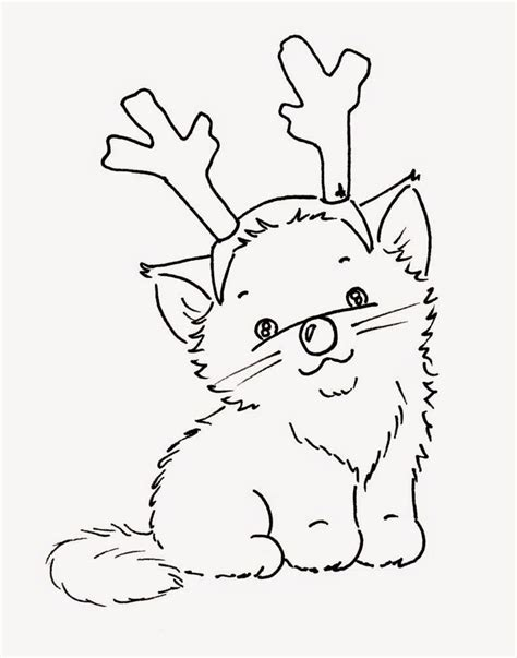 coloring pages christmas cats 119 best coloring christmas images on pinterest color