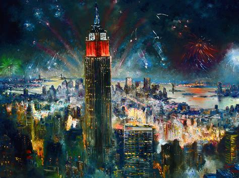 Painting In Nyc by Nyc In Fourth Of July Independence Day Painting By Ylli Haruni